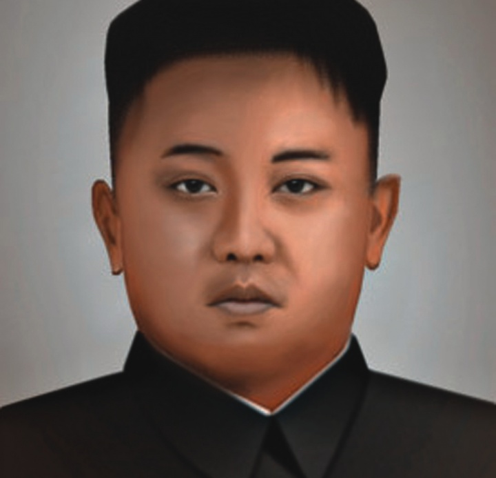 Painting of North Korea supreme leader - Kim Jong Un