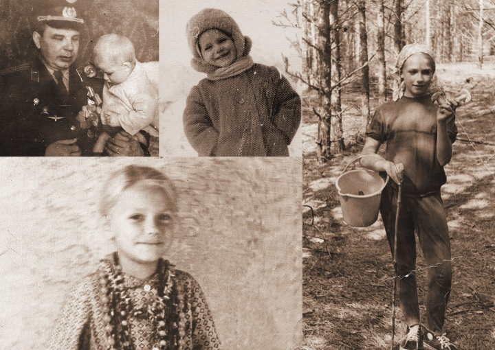 Photos of the author when she was young living in the USSR.