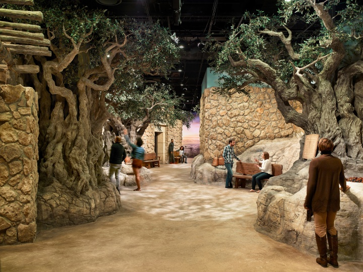 The Museum of the Bible features a recreation of part of the village of Nazareth as it might have looked in first-century Galilee.