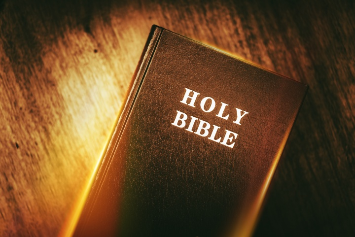 The front of a Bible.