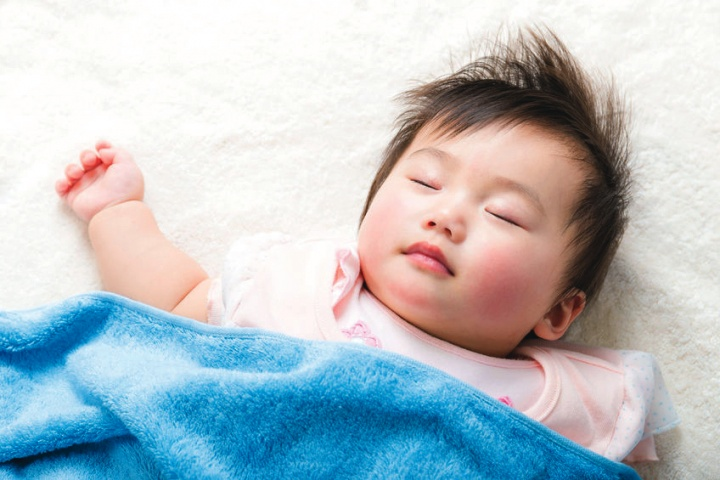 A little baby sleeping.