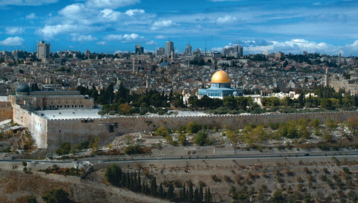 The Temple Mount area in Jerusalem.
