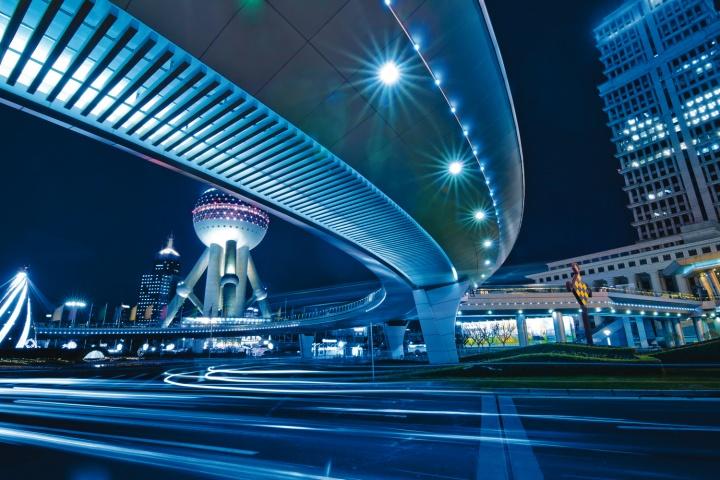 Downtown Shanghi China.