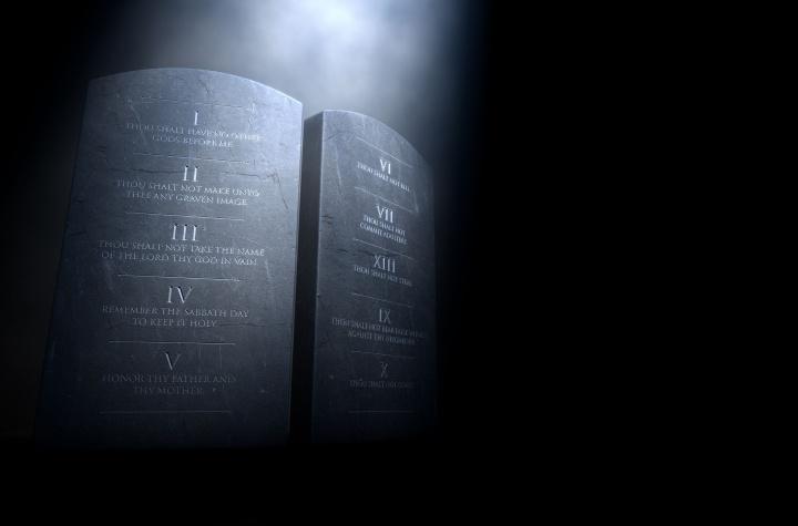 Ten Commandment monument.