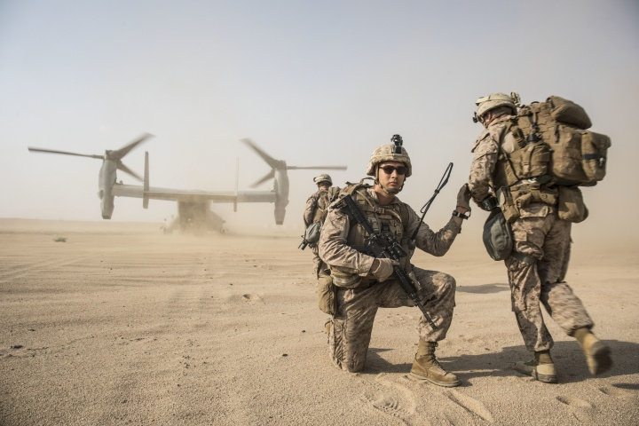 US soldiers on a mission.