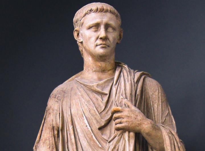 A Greco-Roman statue.