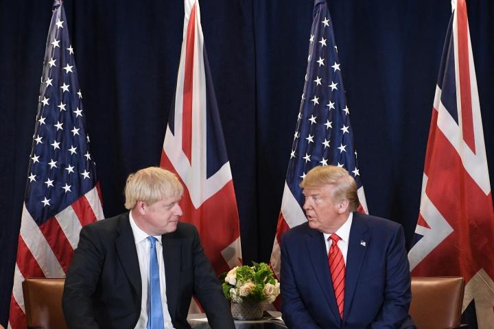 Britain's Prime Minister Boris Johnson and U.S. President Donald Trump.