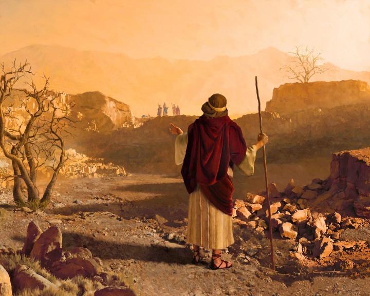 An artist rendition of the Prophet Jeremiah.