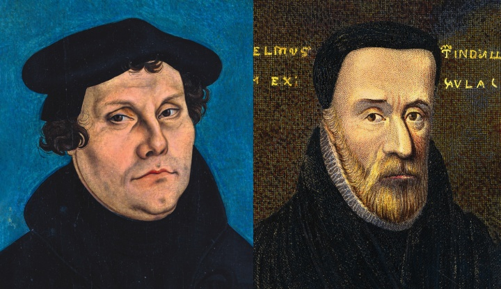 Painting of Martin Luther and William Tyndale