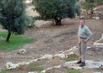 Scott Ashley standing in the Valley of Hinnom.