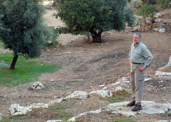 Scott Ashley standing in the Valley of Hinnom.
