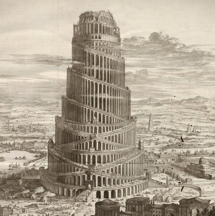 An artist's rendition of the Towel of Babel
