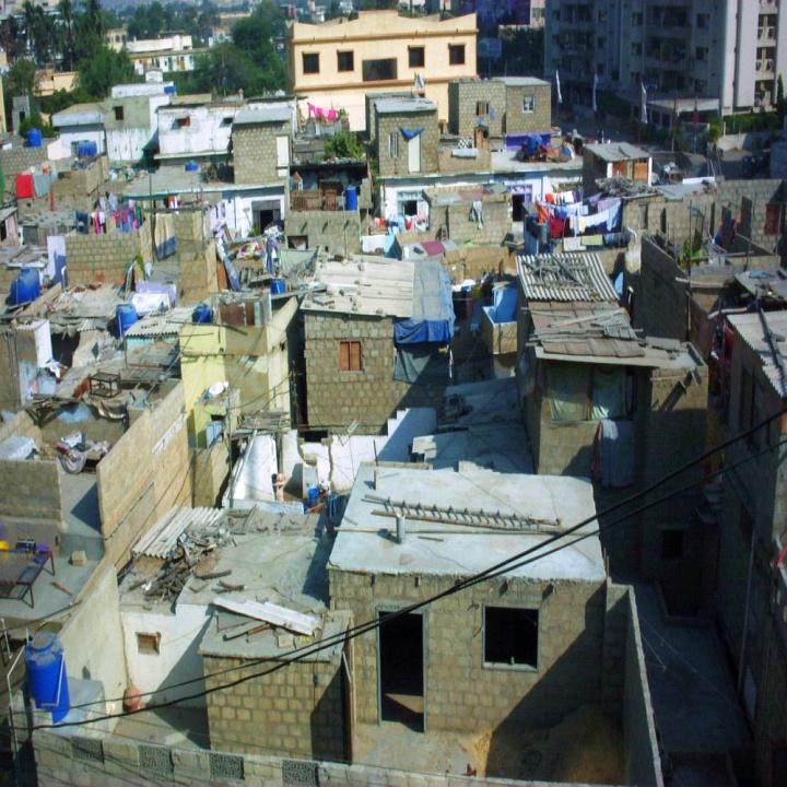 A settlement in Karachi, Pakistan.
