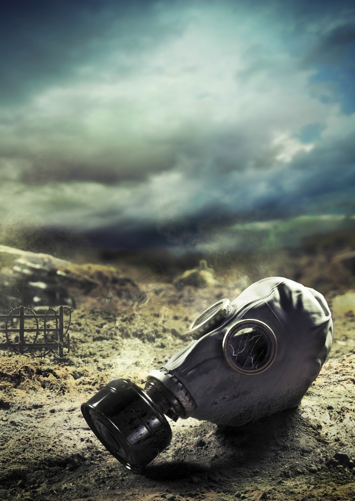 Photo of a gas mask.