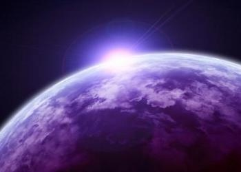 Light peaking from behind planet earth - Extraterrestrial Life: What Does the Bi