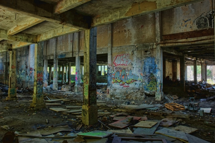 Graffiti in an old factory.