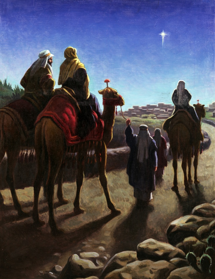Painting of wise men.