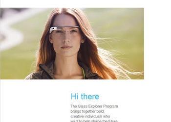 Screenshot of Google Glass invite