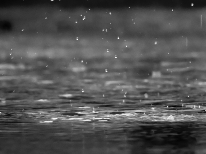 Water and water drops.