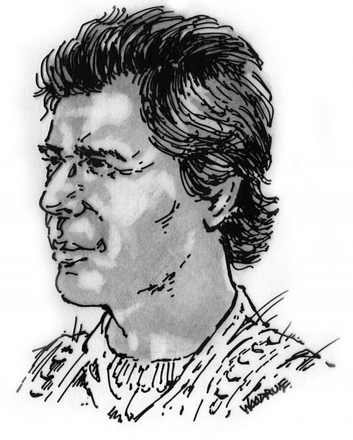 Artist's rendition of the prophet Ezra.