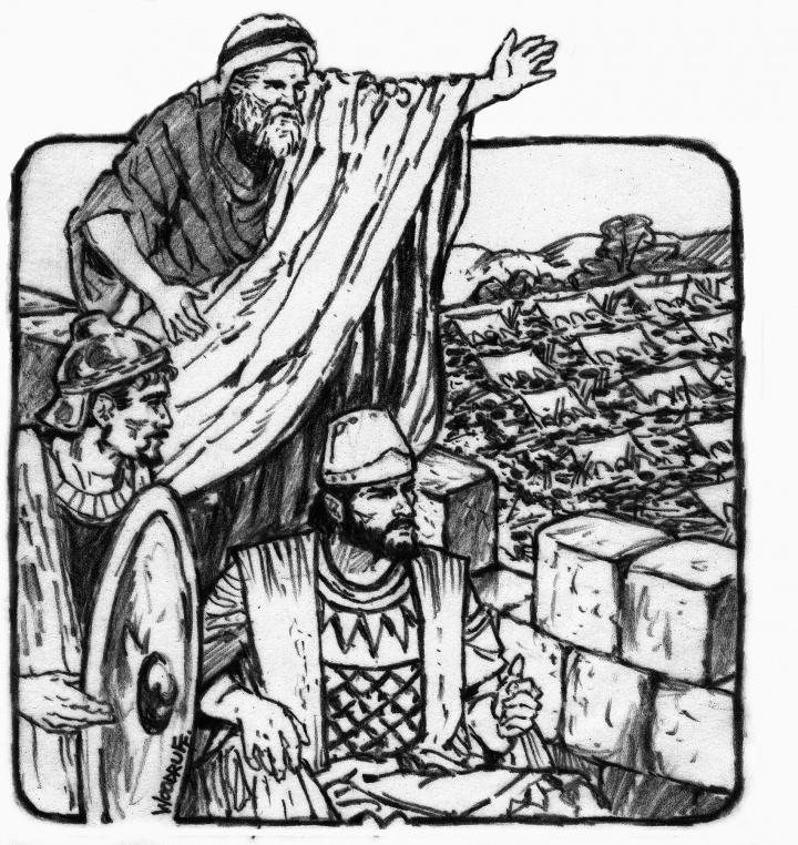 Illustration of Isaiah.