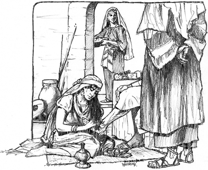 Illustration of Mary and Martha