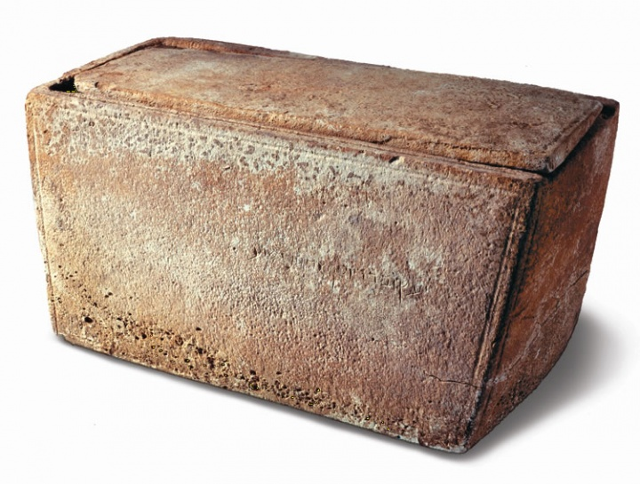 An ossuary, a burial box for bones.