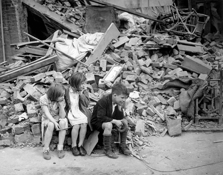 Children affected by World War II in Great Britain.