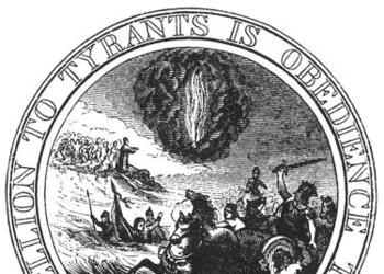 A seal for the United States with Moses.