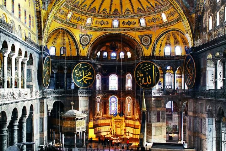 Hagia Sophia basilica in Istanbul