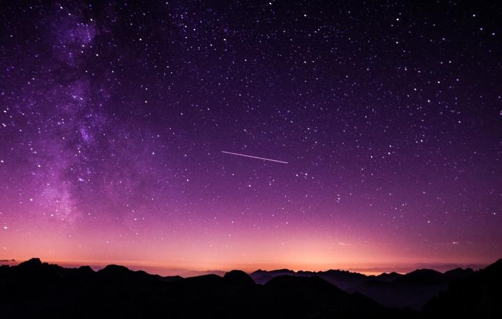 A night sky.