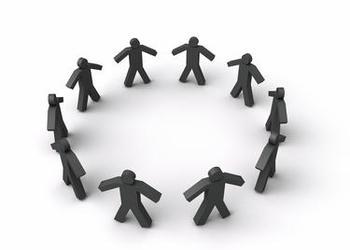 circle of stick figures