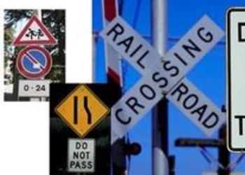 Street warning signs