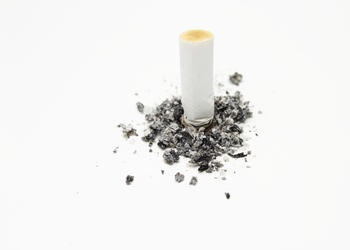 cigarette and ashes