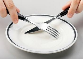 Fork and knife crossing over empty plate - What Does the Bible Teach About Fasti