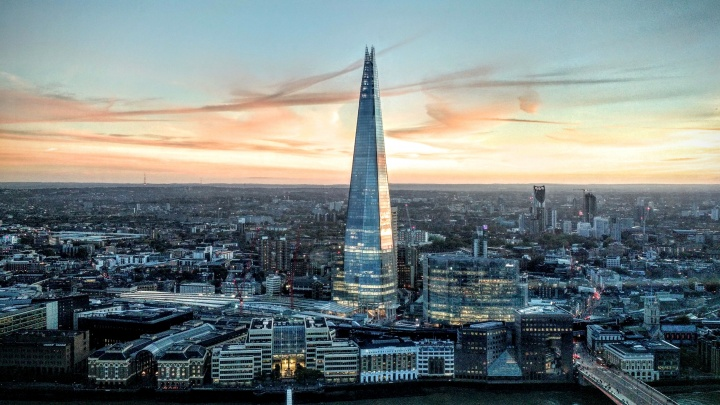 The Shard skyscraper in London, England.