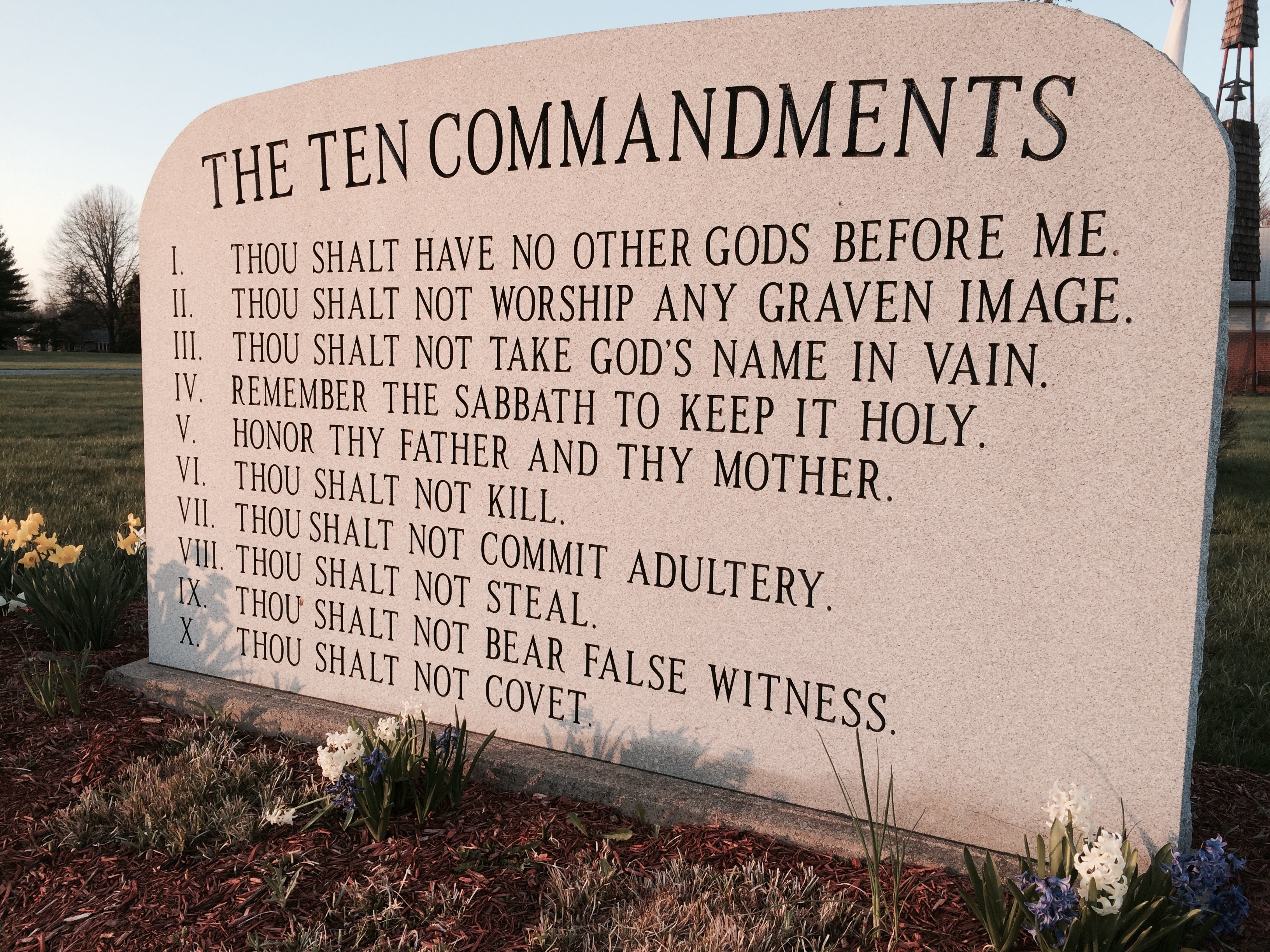 ten commandments list: where in the bible does it talk about the ten