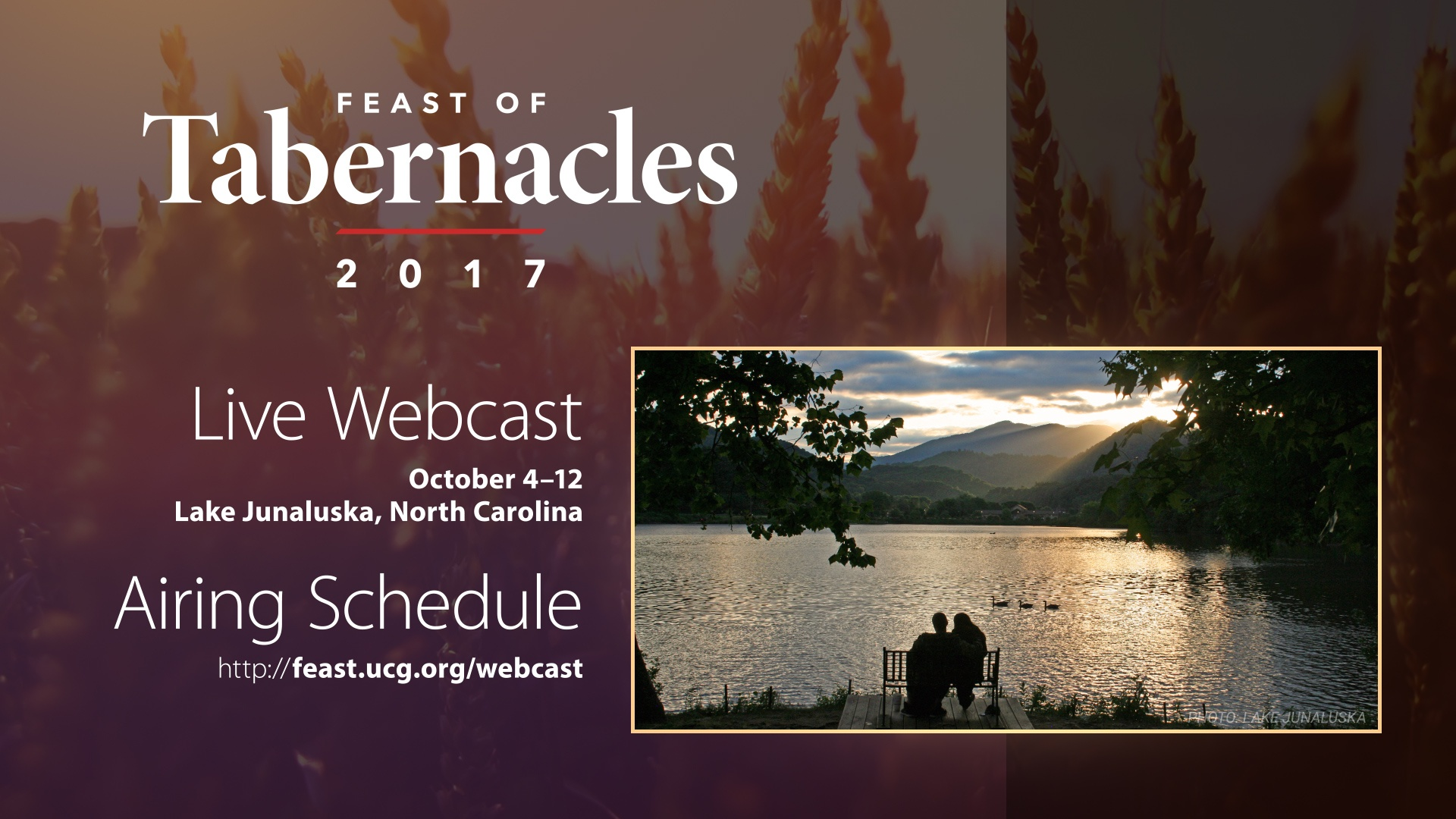 Feast of Tabernacles - Lake Junaluska