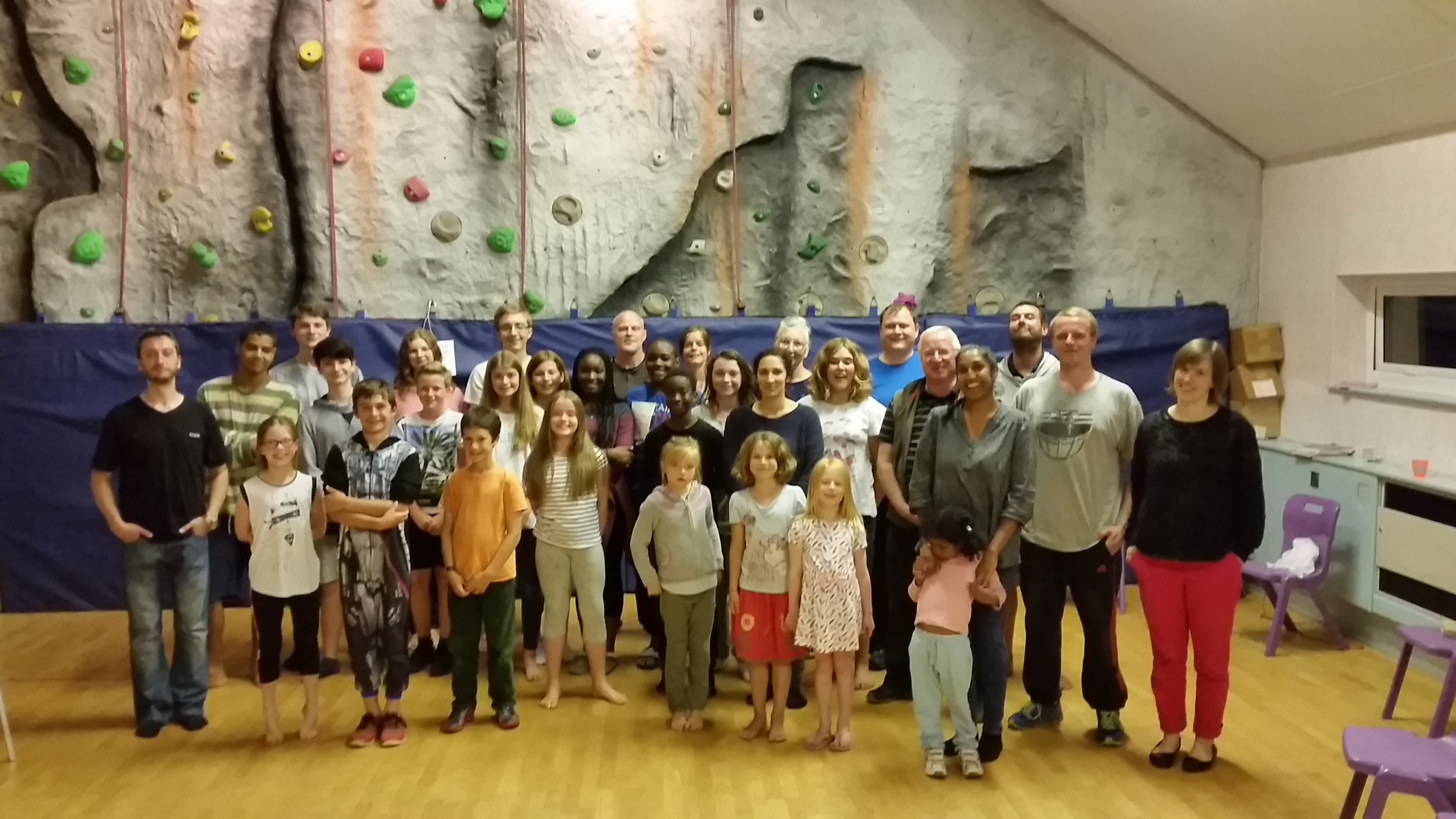 Campers and staff at the UYC camp in British Isles.