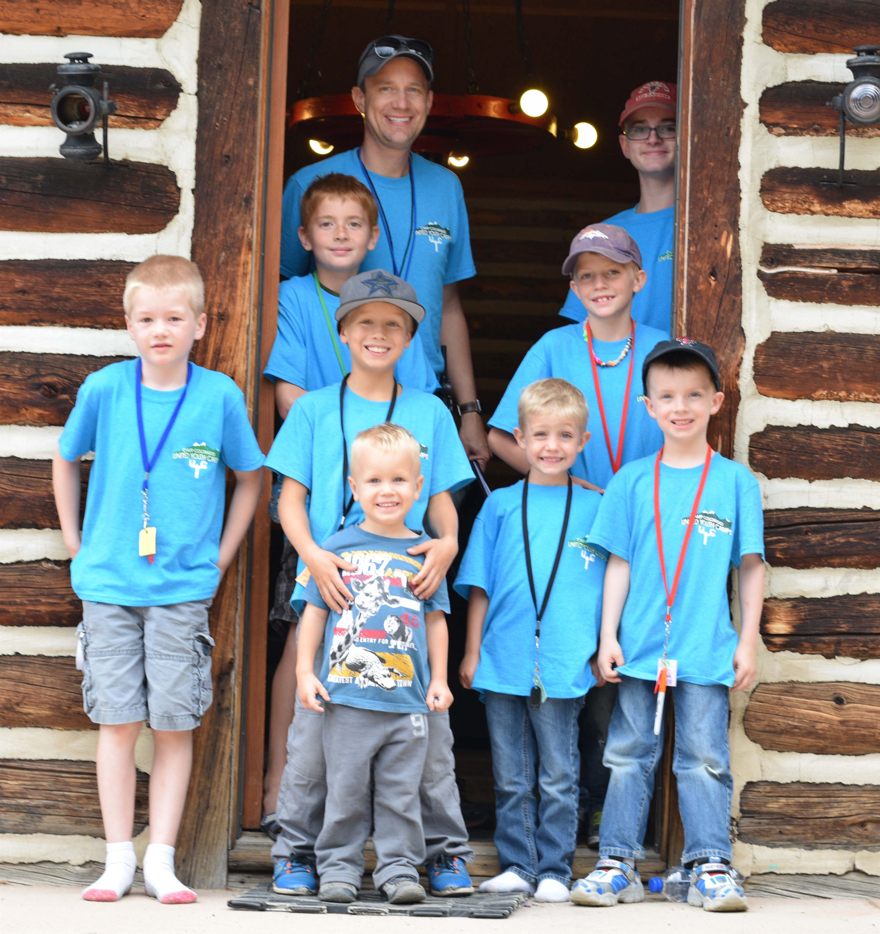 Campers and staff enjoying Preteen Camp Colorado.