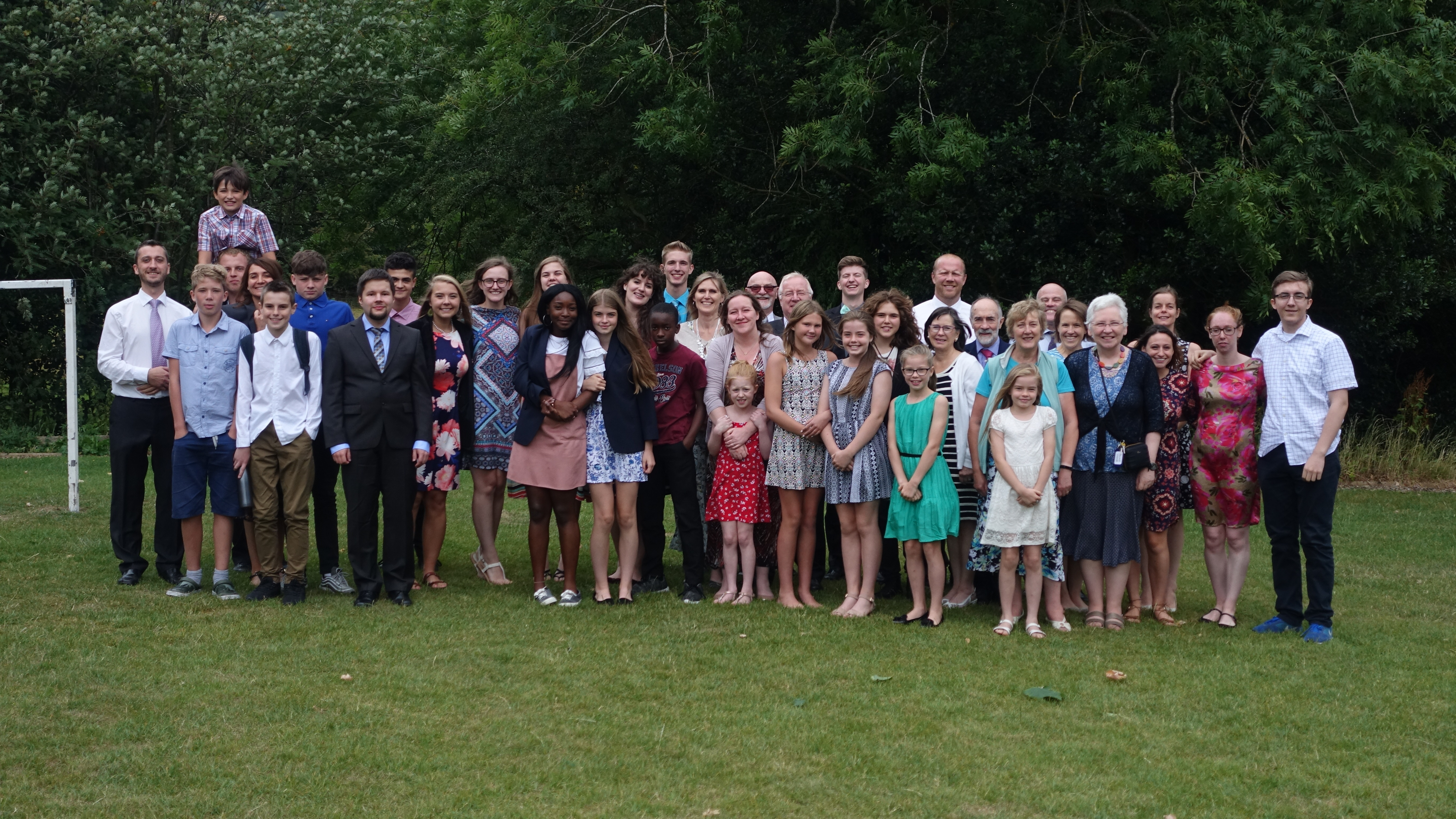 Campers and staff at British Isles Youth Camp.