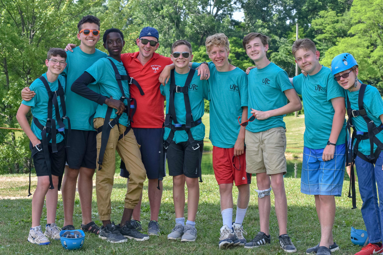 Campers posing at Camp Cotubic.