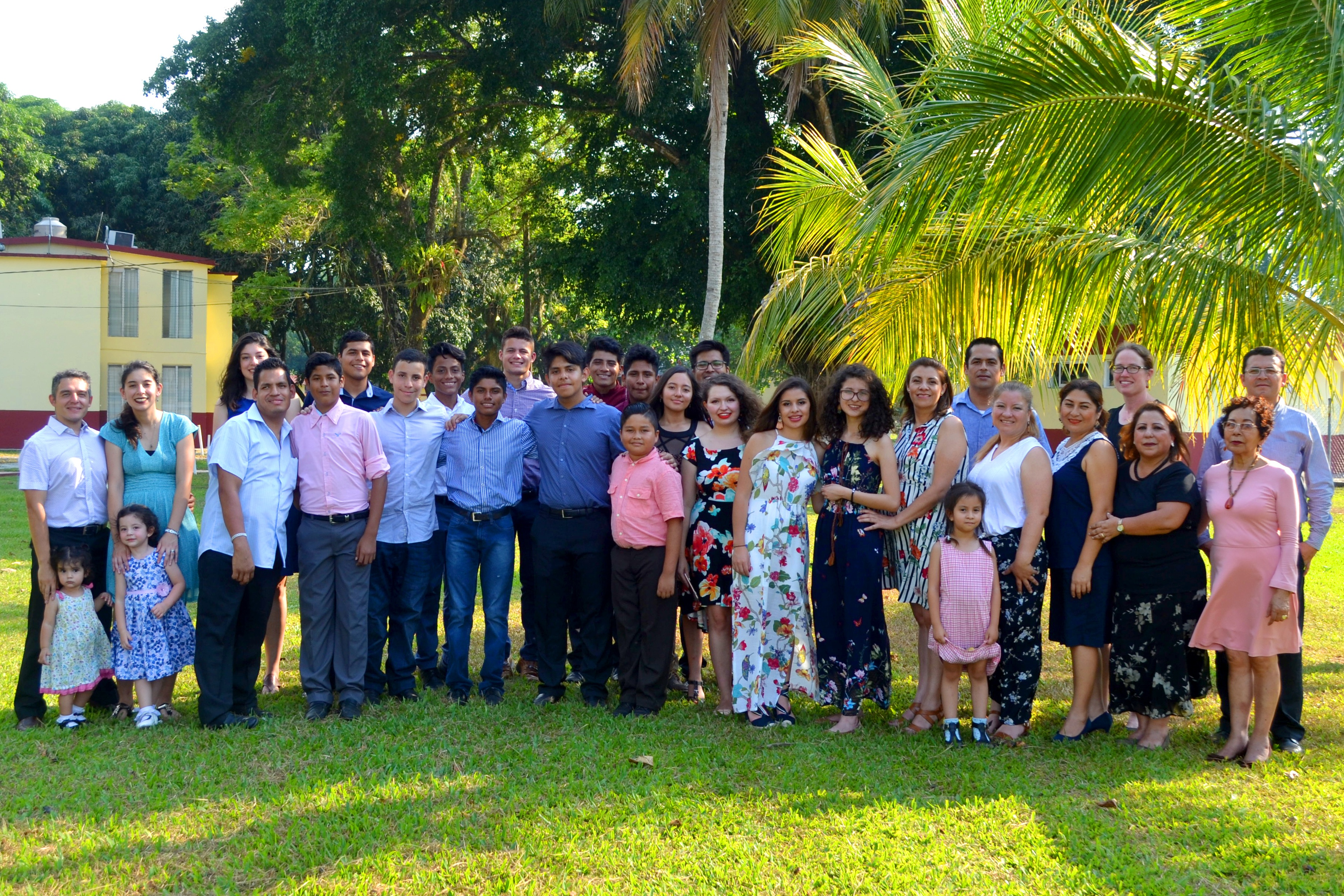 Group photo of campers and staff in Mexico.