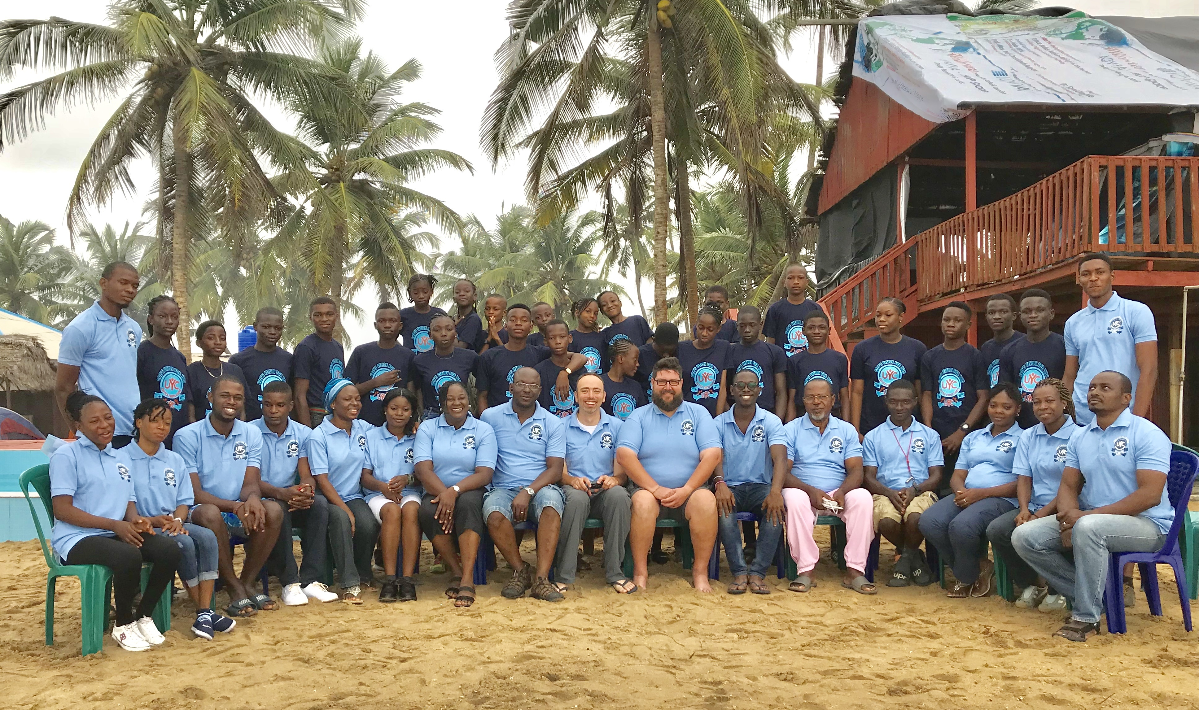 Campers and staff at camp in Nigeria.