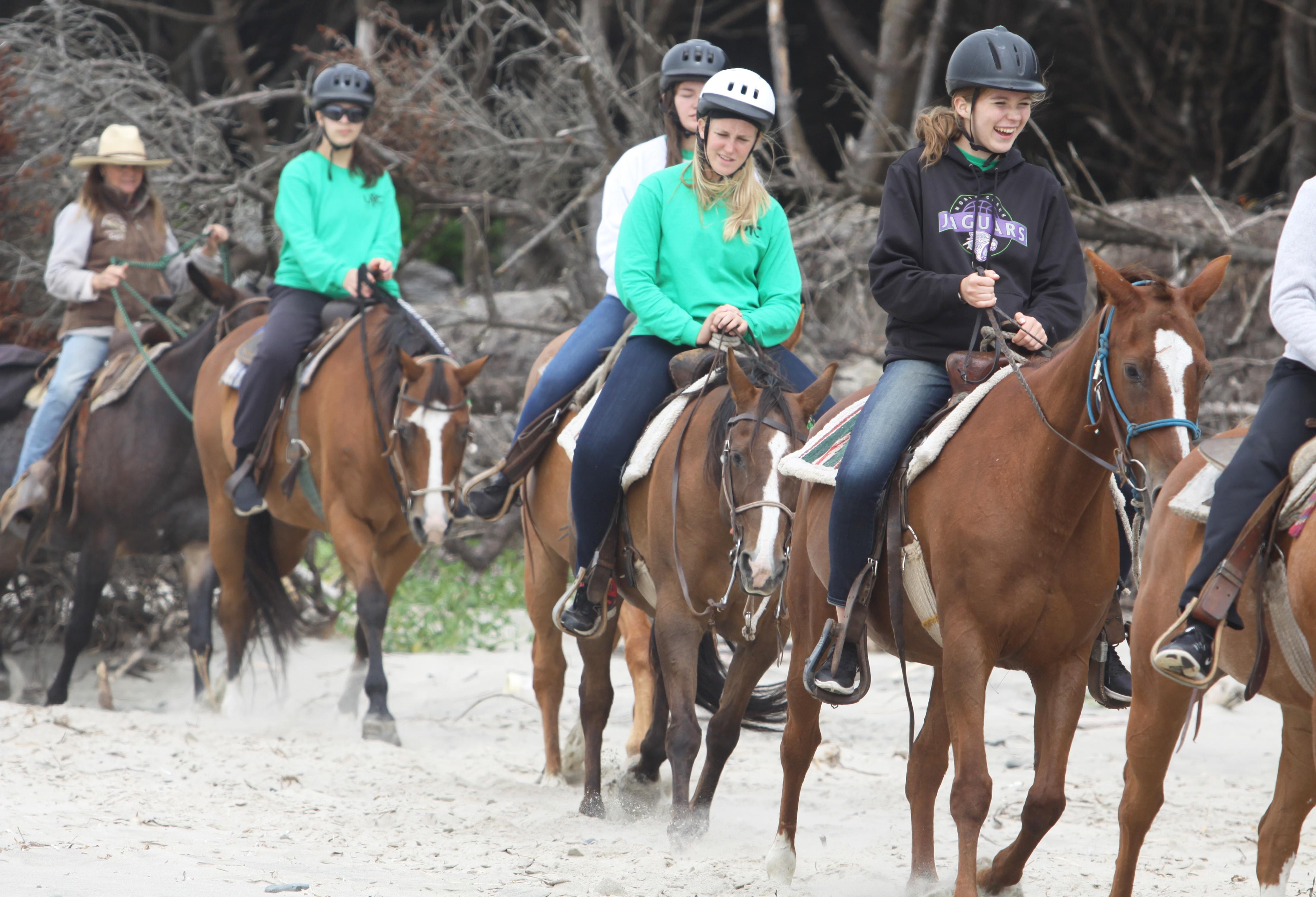 Horseback riding at Northwest Camp.