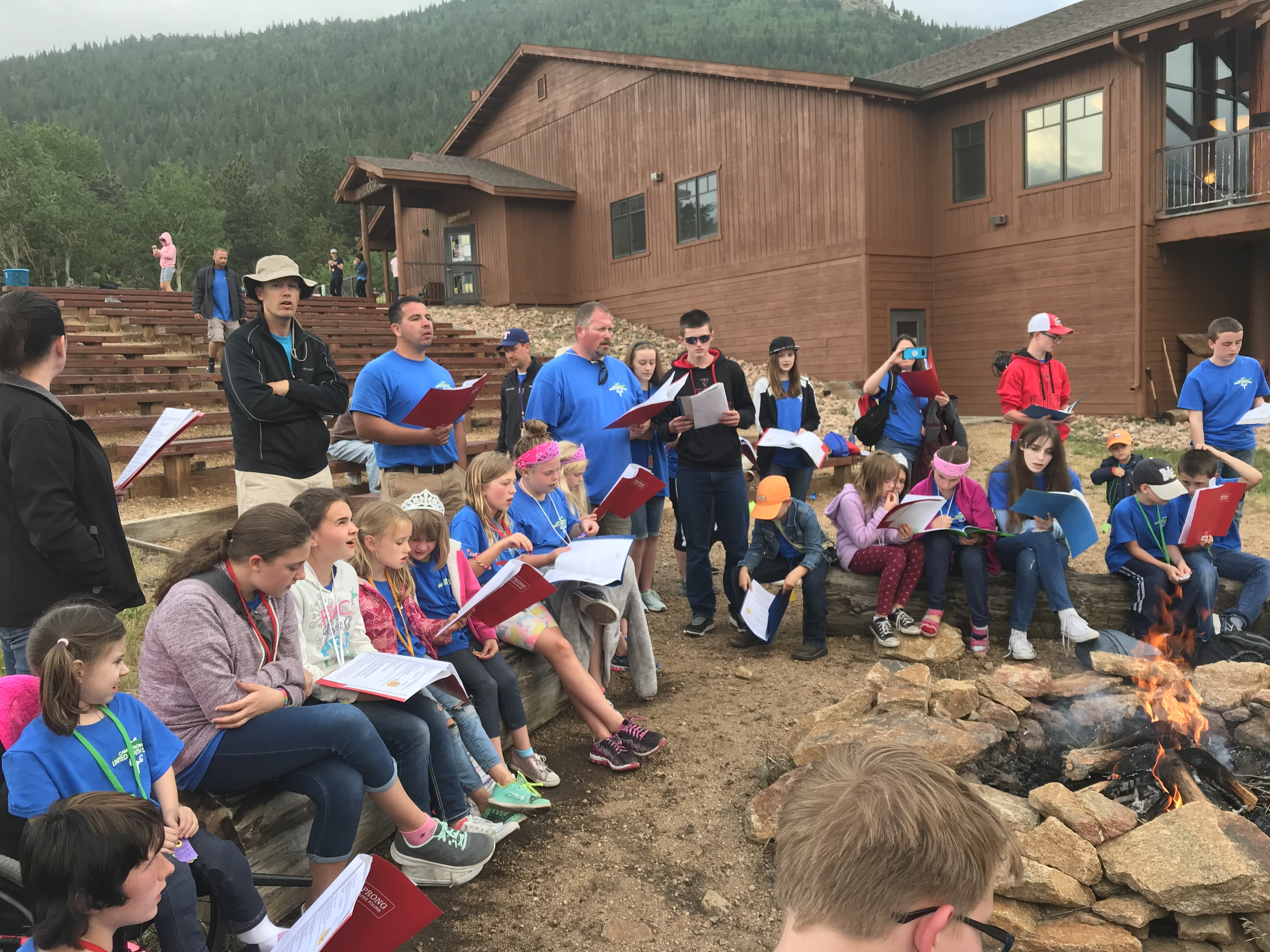 Campers and staff at Camp Colorado!