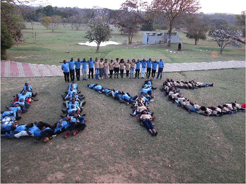 Campers at UYC camp in Zambia.