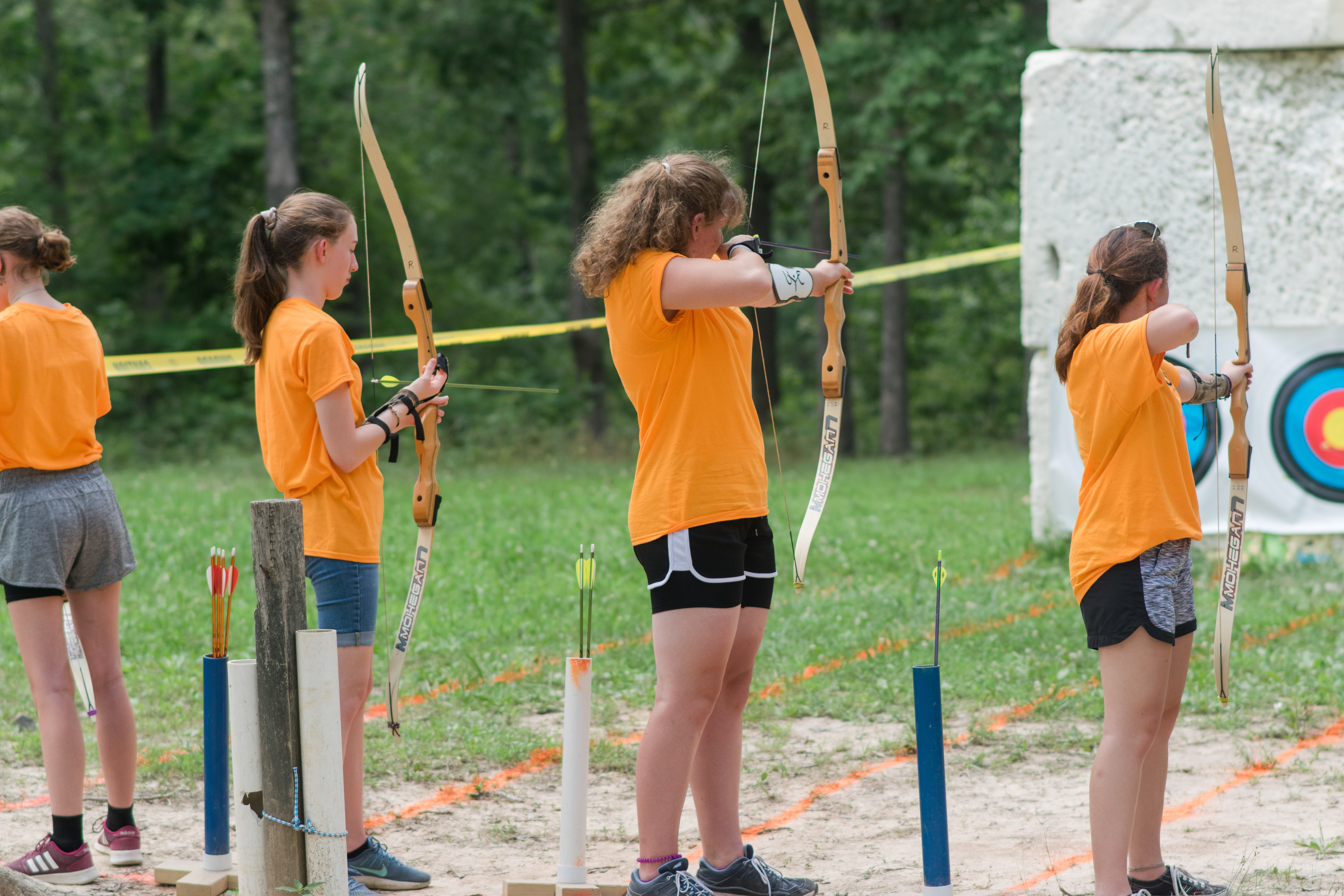 Archery at camp Pinecrest.