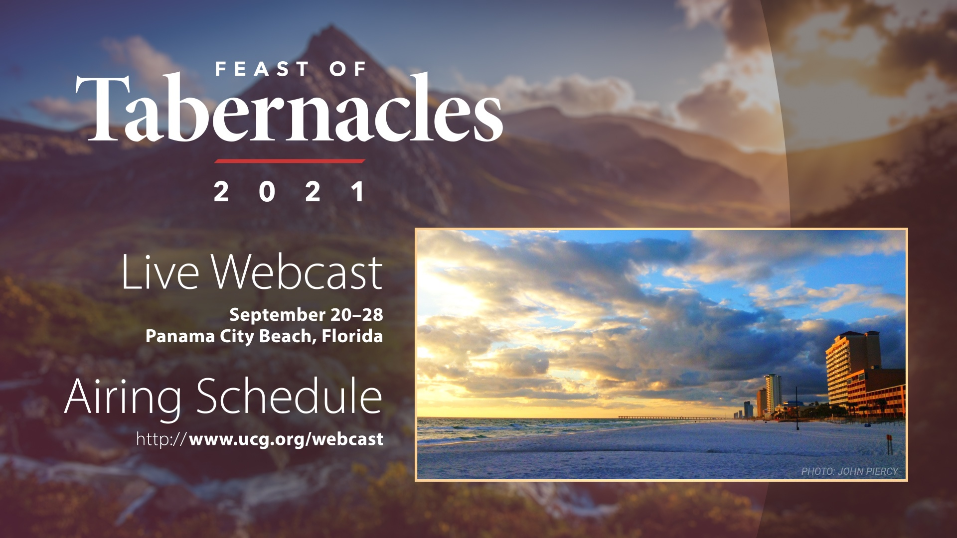 2021 Feast of Tabernacles Webcast Information