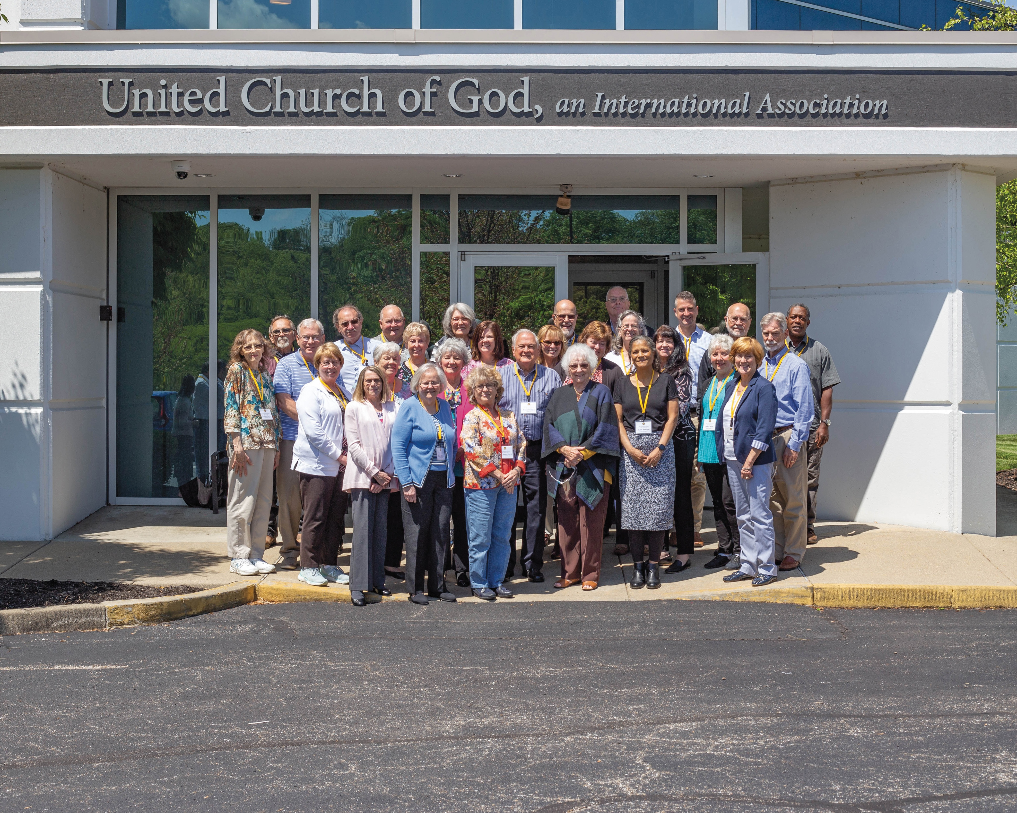 The attendees of the 2021 ABC continuing education program in front of the home office, where classes took place from May 10-14.